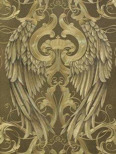 Harald Glööckler wallpaper gold black angel wings crown 52540