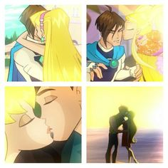 Stella and Brandon kiss