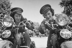 Dot Robinson (right) with daughter Betty, co-founder and first President of Motor Maids