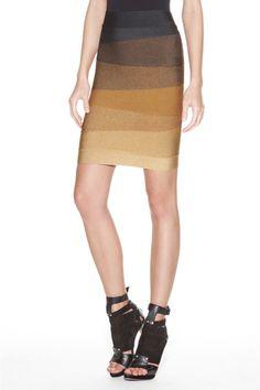Herve Leger Riley Omebre Bandage Skirt  $209.00 Save: 83% off
