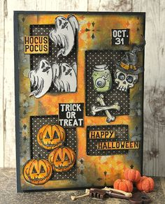 Kath's Blog......diary of the everyday life of a crafter: Tim Holtz Halloween Inspiration Series...Scared Silly