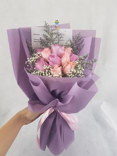 Nieldelia Florist is an affordable that providing & with in Boquette Flowers, Felt Flower Bouquet, Gift Bouquet, How To Wrap Flowers, Beautiful Bouquet Of Flowers, Simple Flowers, Bunch Of Flowers, Beautiful Flowers, Chocolate Flowers Bouquet