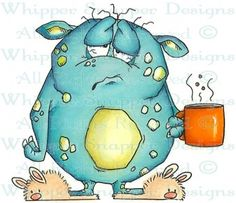 Monster Morning - Monsters - Rubber Stamps - Shop