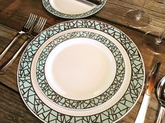 The perfect blue-hue-meets-silver for divine wedding feels! The Mosaic Collection is available in three different color schemes.  Don't break the bank when hosting an engagement party or wedding - save the money for your honeymoon! Let's get your party started with disposable (and reallllly pretty) plastic plates from Smarty! Plastic Dinnerware Sets, Plastic Plates, Mosaic Designs, Blue And Silver, Dinner Plates, Color Schemes, Feels, Turquoise, Money