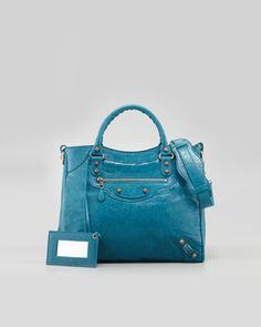 Giant 12 Rose Golden Velo Bag, Lagon by Balenciaga at Neiman Marcus.