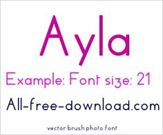 Sans serif - Font for free download show from 132 to 144
