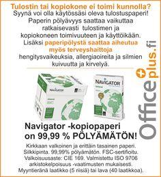 Pölyämätön kopiopaperi! Office Supplies, Personal Care, Self Care, Personal Hygiene