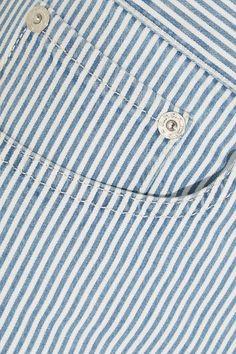 A.P.C. Atelier de Production et de Création - Standard Striped Cotton-blend Shorts - Blue - FR