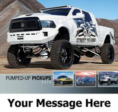 2016 Pumped Up Pick-Ups - Truck - Promotional Calendar Cover. Imprinted with your Business, Organization or Event Name and Logo As Low As 65¢.