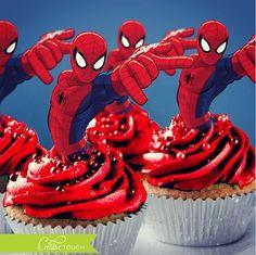 Spiderman Cupcake Toppers, Spider Man Cupcake Topper, Spider-Man, Superhero Cupcake Toppers, Spiderman, Spider Man, Superhero, Birthday
