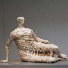 """djinn-gallery: henry moore """"Draped Reclining Woman"""" 1957-58"""