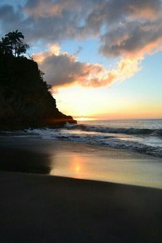 Woodlands Beach, Montserrat Anne Morrow Lindbergh, Montserrat, Emerald Isle, Virgin Islands, Beautiful Sunset, Volcano, Caribbean, Tourism, Ocean