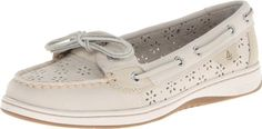 Sperry Top-Sider Women's Angelfish Perforated Slip-On Loafer,White, $41.45