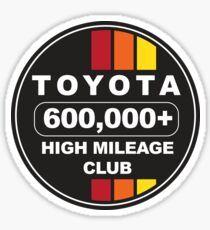 'Toyota High Mileage Club Sticker by GrumpyDog Toyota, Cart, Stickers, Retro, Covered Wagon, Retro Illustration, Decals, Strollers