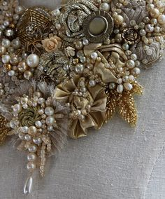 ELIZABETH I textil mixta declaración collar de por carlafoxdesign