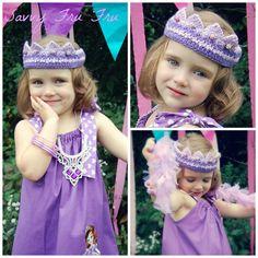 Adalyn from Sugar Grits Boutique Models modeling a Savvy Fru Fru Princess tiara Orders at savvyfrufru.com or visit us on Facebook at www.facebook.com/...