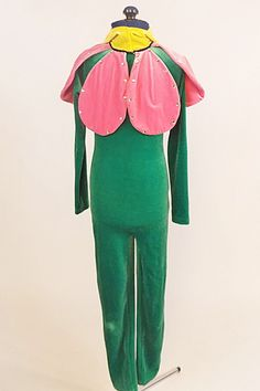 Disney Inspired child's one piece velvet flower costume zips fully up into a…