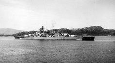 Battleship Bismarck, Grimstadfjord, Norway.