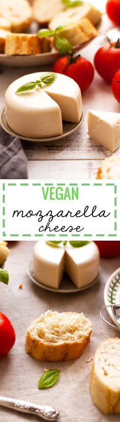 Vegan mozzarella cheese recipe. Delicious alternative to cheese, great as a…