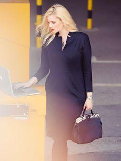 3/4 Sleeve Little Black Dress (Plus Size) 11/2013 #133A