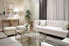 Sophisticated Living Rooms, Elegant Living Room, Living Room Accents, Tufted Sofa, Interior Decorating, Interior Design, Transitional Style, Modern Luxury, Ottoman