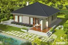 This Three Bedroom Bungalow House Design is 140 square meters in total floor area. Design to be single detached, it can be Bungalow House Plans, New House Plans, Modern House Plans, House Floor Plans, Two Story House Design, Modern Small House Design, Bungalow House Design, Flat Roof House, Facade House