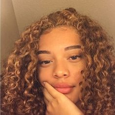 Colored Curly Hair, Long Curly Hair, Curly Girl, Curly Hair Styles, Baddie Hairstyles, Black Girls Hairstyles, Pretty Hairstyles, Big Natural Hair, Natural Hair Styles