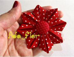 Blog do passo a passo: flores kanzashi (dobradora-tecido)