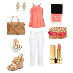 Peach Pastel Casual Outfit