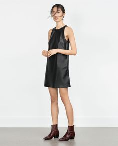 FAUX LEATHER DRESS-View all-Dresses-WOMAN | ZARA United States
