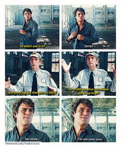 This scene was so funny and so perfectly encapsulated Bruce's psychological state. I wish they'd kept it!