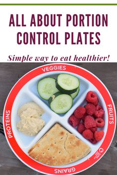 Nutrition plate to help you eat healthier and practice portion control