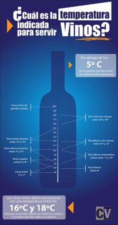Temperatura adecuada para cada tipo de vino