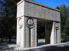 The Gate of Kiss - Constantin Brancusi, Tg-Jiu Romania, Summer