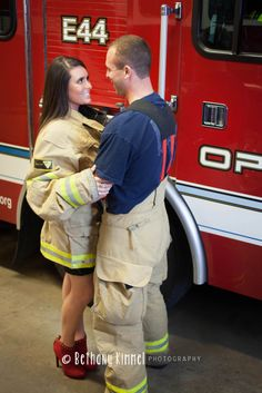 www.bethanykimmelphotography.com & www.facebook.com/bethanykimmelphotography {Engagement Session, E-Session, Couples, Love, Firefighter} Engagement Pictures, Wedding Engagement, Engagement Session, Wedding Stuff, Wedding Photos, Wedding Ideas, Firefighter Wedding, Firefighter Pictures, Firefighting