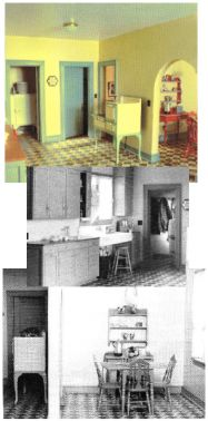 Helen Dorsett (1985). Changing Times: a 1930 American Kitchen. Changes in interior and kitchen design before the Depression. In The Scale Cabinetmaker, Volume 9:1. Issue available as digital download from dpllconline.com. Issue price: $6.
