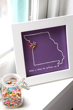 "DIY Sprinkles Art ""Home is where the sprinkles are"" 