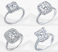 I like the one in the lower right corner!!  Oh who am I kidding...I like them all! vera wang engagement rings - Google Search