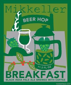 The boys from Mikkeller are back at it, redesigning all of their labels this time; incorporating more of the famous Keith Shore.  How good does Beer Hop Breakfast sound right about now?  A 7.5% ABV Black IPA brewed with coffee!