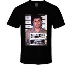 Joaquin El Chapo Guzman Mugshot Cool Cartel Leader T Shirt Chapo Guzman, Tee Shirts, Tees, Shirt Price, Mug Shots, Sport T Shirt, Custom T, Shirt Style, Pop Culture