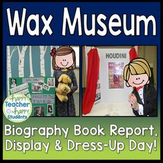 This Wax Museum Book Report consists of 3 parts: Writing a Research Paper, Creating a Display, and then the best part...Dressing up as the Person for the Wax Museum!This download includes all you need for a successful Wax Museum: - Wax Museum Project Description- Research Notes (2 Pages)- Grading Rubric- Door Sign in Color and Black & White- Wax Museum Flier with Autograph Space- Half-page Flier without Autograph Space- Parent Invitation - Example Pictures- 'PLAY' Button to bring Wax Muse...
