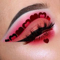 Valentinstag Augen Make-up 70s Makeup, Makeup Eye Looks, Cute Makeup, Pretty Makeup, Makeup Art, Makeup Goals, Makeup Inspo, Makeup Ideas, Tattoo Henna