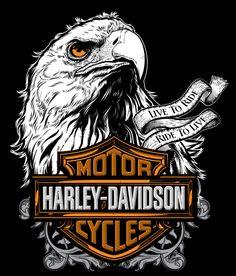 Harley Merch Design by Jeremy Packer, via Behance