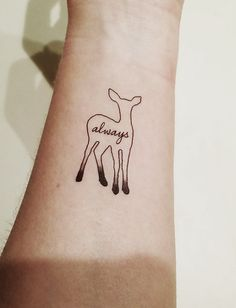 Harry Potter  Always Patronus  Deer Temporary by PopGeekTattoos, $5.00