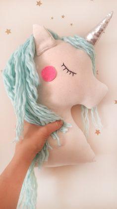 Unicorn kussen knuffel mint unicorn kwekerij decor met