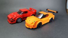 Speed Champions MOC: Ferrari F40 and Porsche GT3 RS