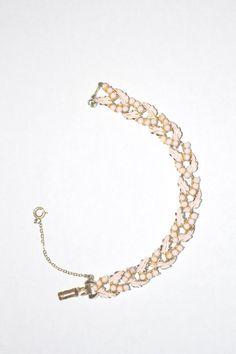 Vintage Signed Coro Pink Enameled Bracelet by LustfulJewels