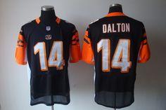 Nike NFL Jerseys Cincinnati Bengals Andy Dalton  14 Black Afc Nfl d7aadabdd