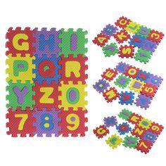 36 Unids Bebé Niño Alfabeto Número Matemáticas Juguetes educativos de Espuma EVA Rompecabezas Regalo A81