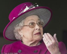 Oh no! The Queen allows herself a look of horror as Ring of Truth is narrowly pipped to the post